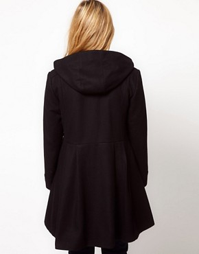 Image 2 of ASOS CURVE Exclusive Swing Duffle Coat
