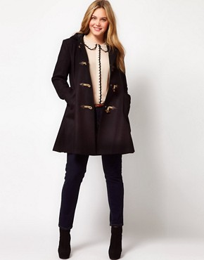 Image 4 of ASOS CURVE Exclusive Swing Duffle Coat