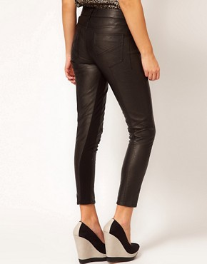 Image 2 ofRiver Island Faux Leather Trousers