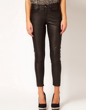 Image 4 ofRiver Island Faux Leather Trousers
