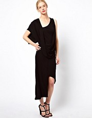 Kore by Sophia Kokosalaki Waterfall Drape Midi Dress
