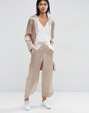 ASOS Wide Leg Trouser with Piping Detail