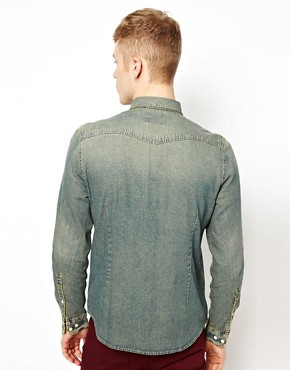 Image 2 ofASOS Denim Shirt In Stone Wash