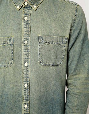 Image 3 ofASOS Denim Shirt In Stone Wash