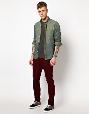 Image 4 ofASOS Denim Shirt In Stone Wash