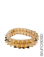 ASOS CURVE Two Pack Triangle Stretch Bracelet