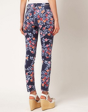 Image 2 ofCITIZENS of HUMANITY Mandy Relaxed Roll Up Jeans In Rose Print