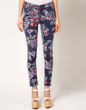 Image 4 ofCITIZENS of HUMANITY Mandy Relaxed Roll Up Jeans In Rose Print