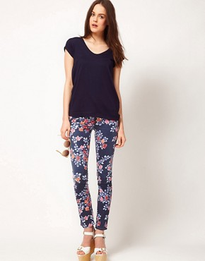 Image 1 ofCITIZENS of HUMANITY Mandy Relaxed Roll Up Jeans In Rose Print