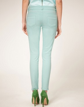 Image 2 ofASOS PETITE Exclusive Mint Green Skinny Jean #4