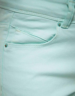 Image 3 ofASOS PETITE Exclusive Mint Green Skinny Jean #4