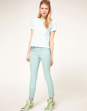 Image 4 ofASOS PETITE Exclusive Mint Green Skinny Jean #4