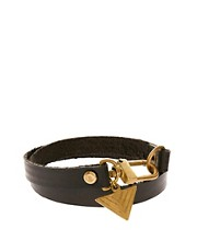 ASOS Leather Bracelet With Arrow Charm