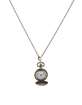 Image 1 of ASOS Chunky Pocket Watch Necklace