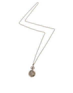 Image 2 of ASOS Chunky Pocket Watch Necklace