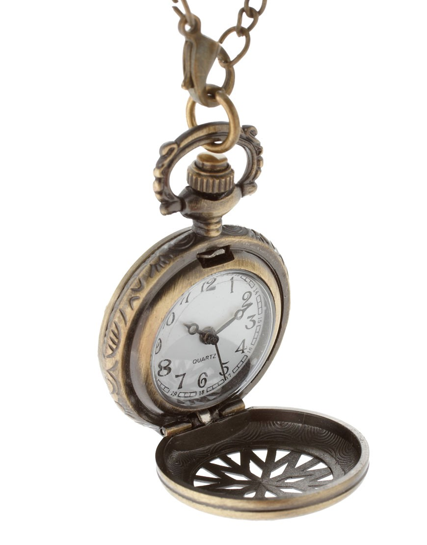 Image 4 of ASOS Chunky Pocket Watch Necklace