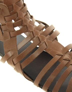 Image 2 of ASOS FREDDIE Leather Gladiator Sandals