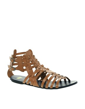 Image 1 of ASOS FREDDIE Leather Gladiator Sandals