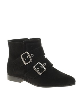 Image 1 ofKG Winkle Pointed Buckle Flat Ankle Boots