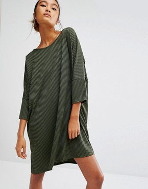 Daisy Street T-Shirt Dress In Rib