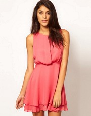 ASOS Sleeveless Mini Dress With Double Skirt