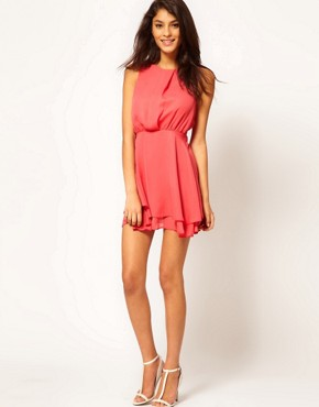 Image 4 ofASOS Sleeveless Mini Dress With Double Skirt