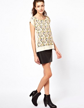 Image 4 ofVero Moda Print Front T-Shirt