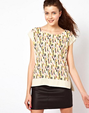 Image 1 ofVero Moda Print Front T-Shirt