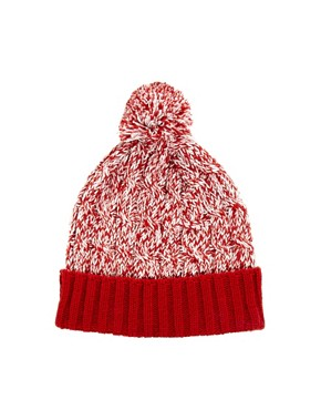 Image 1 ofASOS Twist Yarn Bobble Beanie