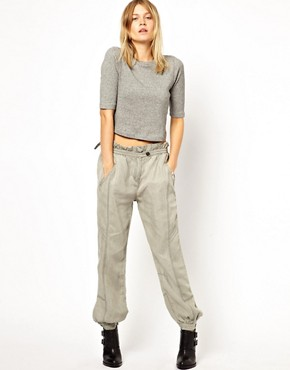 Image 1 ofASOS Trousers with Stitch Detail