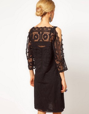 Image 2 ofASOS Shift Dress with Lace Detail