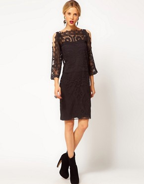 Image 4 ofASOS Shift Dress with Lace Detail