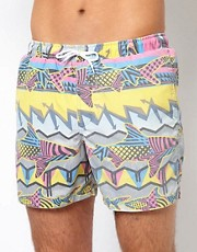 ASOS Swim Shorts With Shark Print
