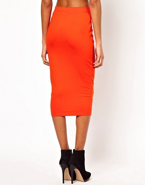 Image 2 ofASOS Pencil Skirt in Longer Length