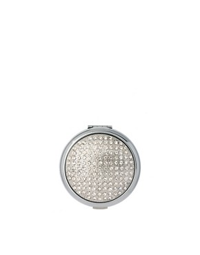 Image 1 ofASOS Exclusive Silver Diamante Compact Mirror