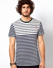 G Star T-Shirt Crew Division Stripe