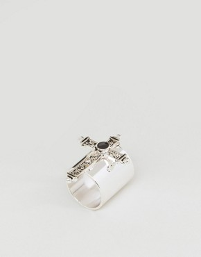 ASOS Grunge Cross Ring