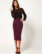 ASOS Longline Pencil Skirt