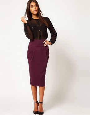 Image 1 ofASOS Longline Pencil Skirt