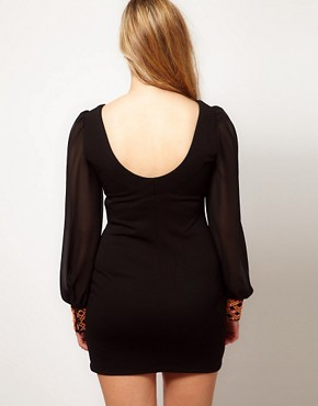 Image 2 ofASOS CURVE Exclusive Dress With Embellished Cuff