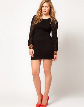Image 4 ofASOS CURVE Exclusive Dress With Embellished Cuff