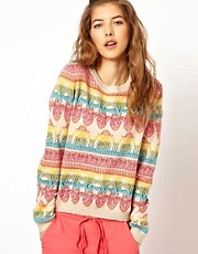 Paul and Joe Sister Paisley Multi Color Knit in Cotton