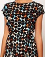 Image 3 ofRiver Island Chelsea Girl Heart Print Frill Front Dress