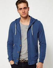 ASOS Button Through Hoodie