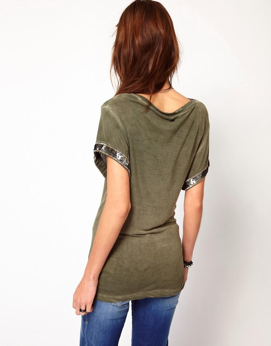 Image 2 ofDiesel T-Shirt With Embellishment