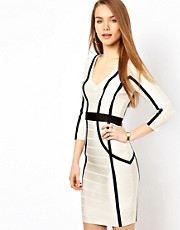 French Connection Bodycon Dress With Contrast Panels