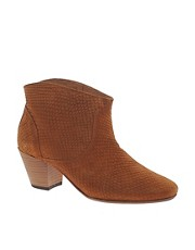 H by Hudson Mirar Tan Heeled Ankle Boots