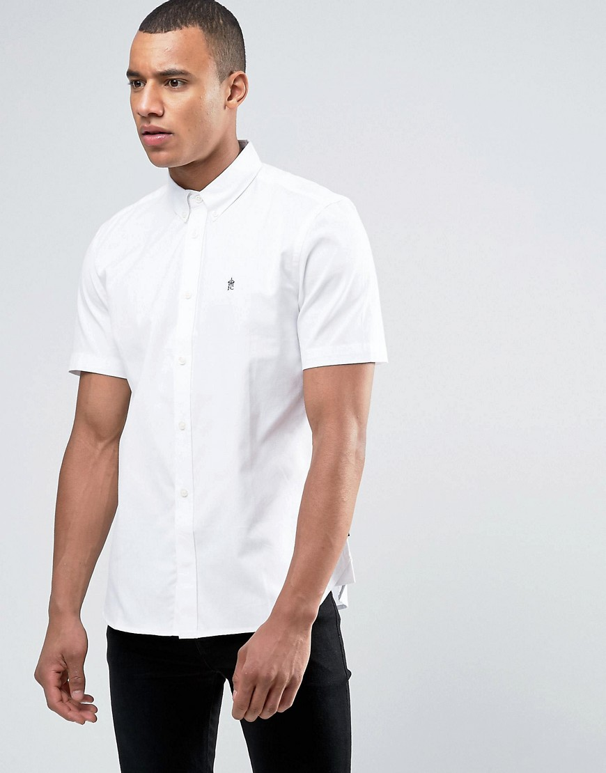 French Connection Oxford Shirt with Short Sleeves - White