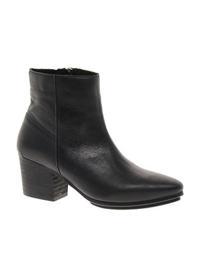 Image 1 of ASOS ASHER Leather Western Boots