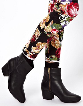 Image 3 of ASOS ASHER Leather Western Boots